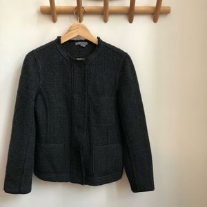 VINCE Charcoal Gray Blazer Jacket Size 8
